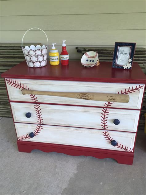 Baseball Bedroom Decorations Baseball Dresser Craft Ideas Baseball Dresser Dresser And Room