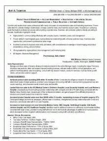 Sle Product Manager Resume by Sales And Marketing Resumes Retail Manager Resume Product Format Outside Representative Free