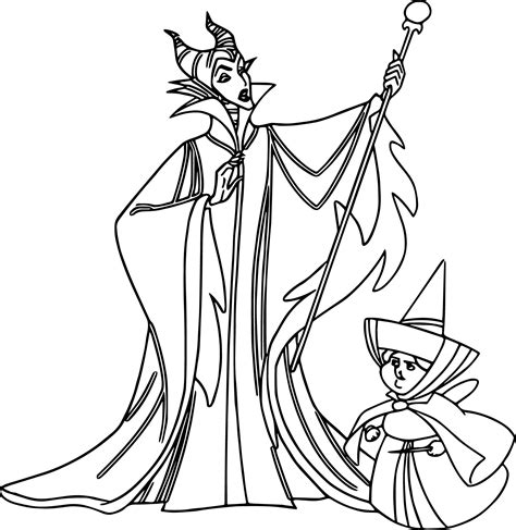 Disney Maleficent Coloring Pages maleficent merry weather coloring page wecoloringpage