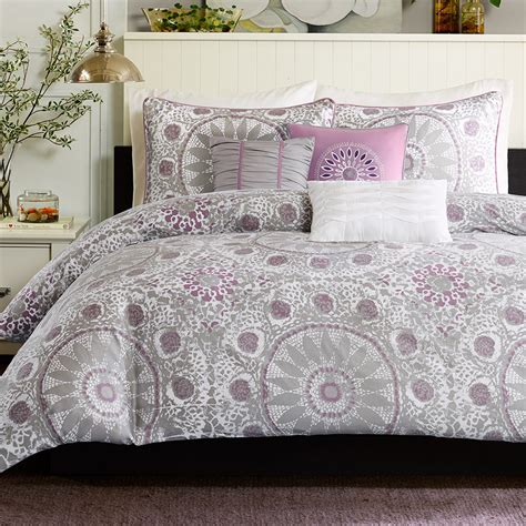 purple queen bedding contemporary country girls bedroom with grey and purple