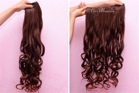 Rambut Palsu Hairclip Biglayer Curly Sosis cara instan rambut panjang dan tebal dengan hairclip loveellentan