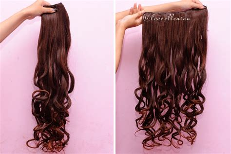 Hair Clip Big Layer Ayumi Model Lurus Curly cara instan rambut panjang dan tebal dengan hairclip