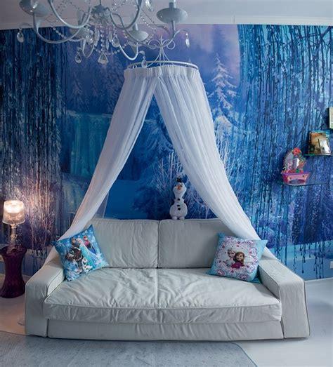Frozen Canopy Bed Desires Come True S Bedroom Motivated By The Frozen Best Of Interior Design