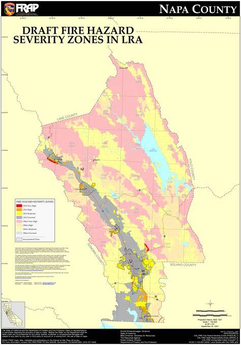 Napa County Records Cal Napa County Fhsz Map