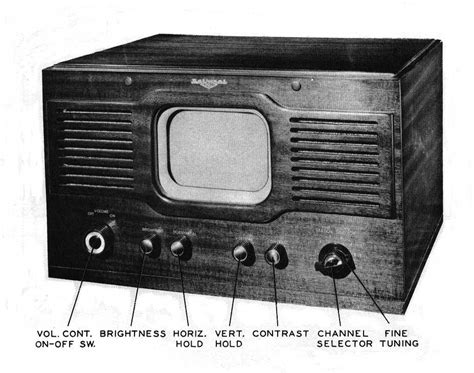 Images Tv Cabinets National Model Tv 7w Television 1948