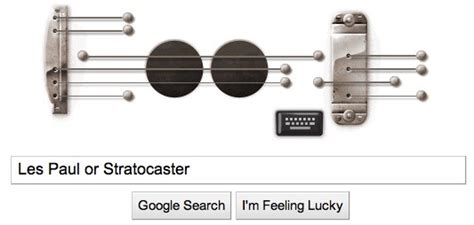 doodle les paul doodle lets you play a recordable guitar ditty in