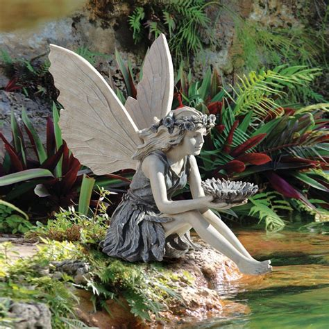 fairy garden statues design toscano the sunflower fairy garden statue garden