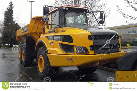 brand new volvo truck articulated volvo dump truck editorial stock image image