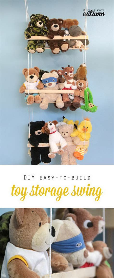 stuffed animal swing 25 clever creative ways to organize kids stuffed toys