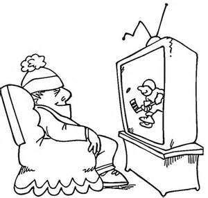 watch tv coloring coloring pages