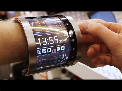 Fleksibel Flexibel Flex Samsung E250 layar olcd milik flexenable dipamerkan di mwc
