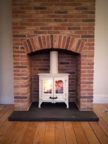 brick fireplace surround woodburner search