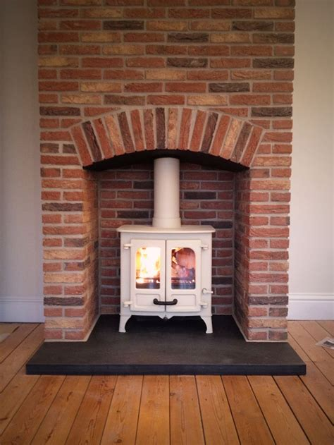 slate fireplace hearth google search my style brick fireplace surround woodburner google search