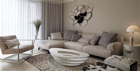 neutral living room neutral contemporary apartment by w c h design studio