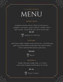 formal menu template black formal restaurant menu templates by canva