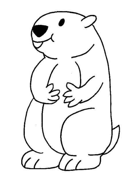 Groundhog Printable Coloring Pages Groundhog Day Coloring Page