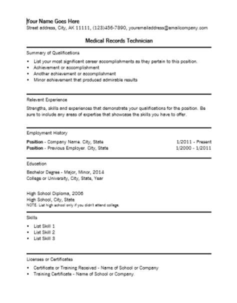 lobbyist resume medical records technician resume template