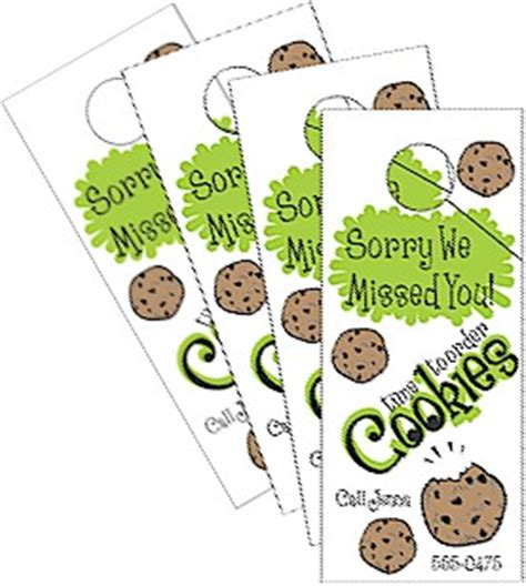 Scout Leader 411 Blog Get The Excitement Going To Increase Cookie Sales With Your Junior Troop Scout Door Hanger Template
