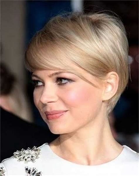 short hair longer on top and over ears 25 beautiful short haircuts for round faces 2017