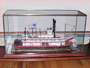 model boat glass cases clear view designs custom glass display cases for
