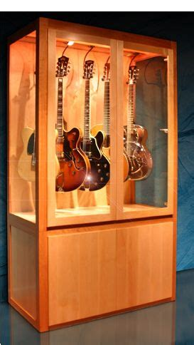 guitar armoire how to build a guitar display cabinet woodworking