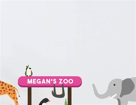 childrens wall stickers uk children s personalised zoo wall sticker set