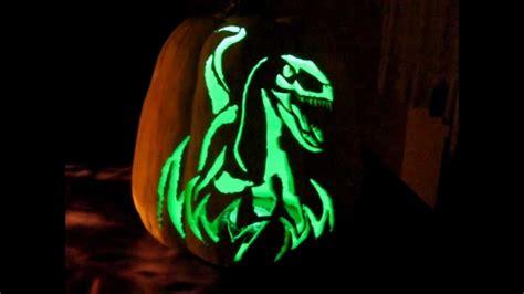 free printable pumpkin carving stencils jurassic park jurassic park raptor pumpkin youtube
