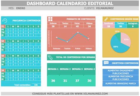 Ejemplos De Calendarios Plantilla Calendario Editorial De Redes Sociales Gratis