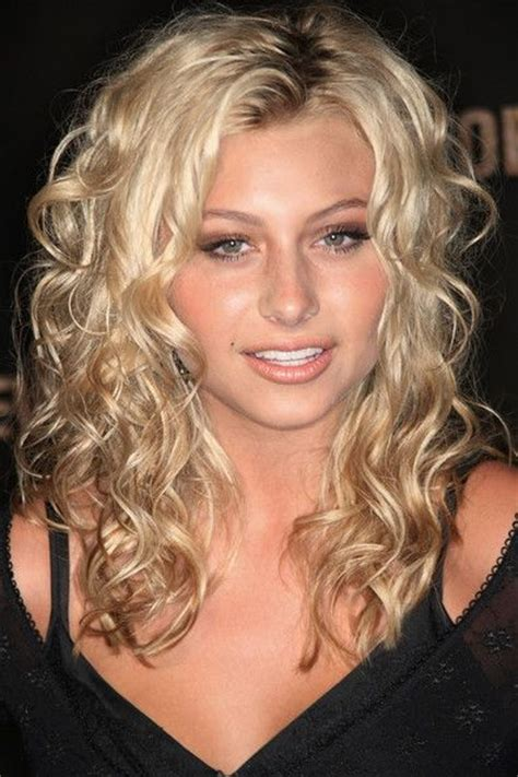 photos of mid lengh permed hair medium length spiral perm elegant long curly hairstyle