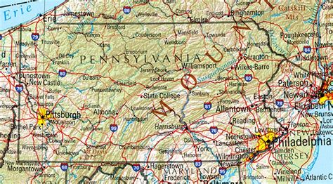 pa texas map pennsylvania geography and maps