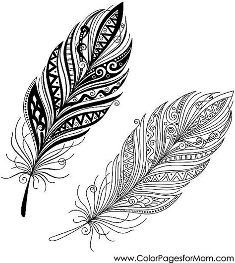 feathers coloring page 30 mandala pinterest feathers
