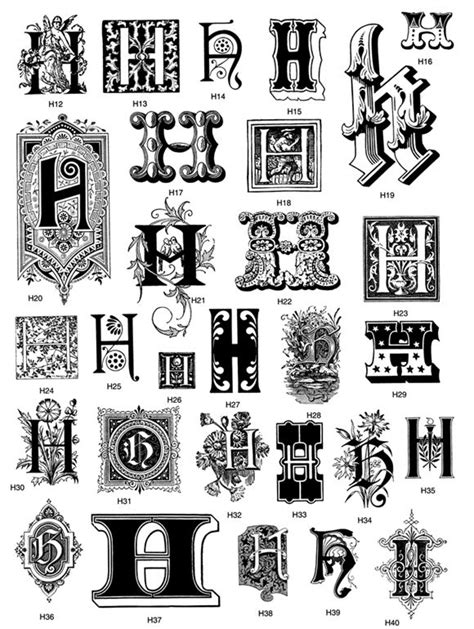 tattoo fonts zip from decorative letters cd rom and book