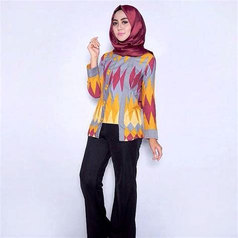 Hailey Hd Atasan Blouse Pakaian Wanita model baju batik muslim yang modern wallpaper