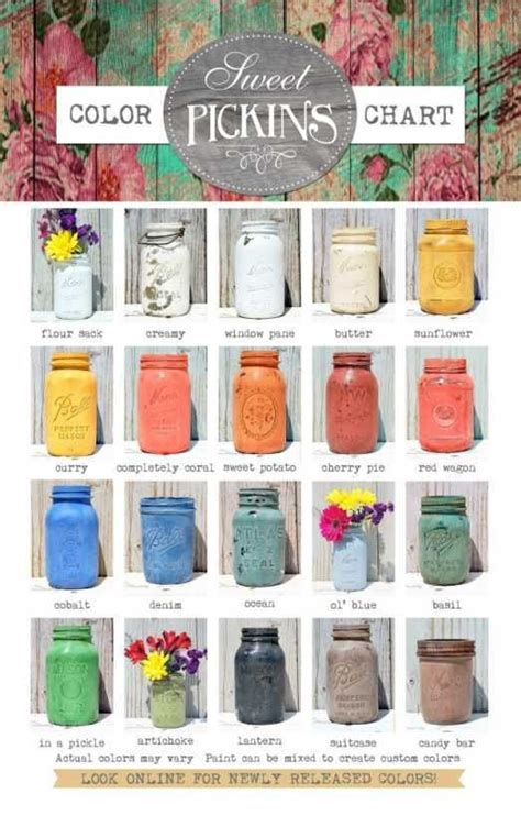 sweet pickins milk paint color chart upcycled