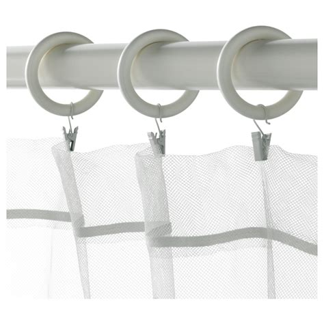 ikea curtain clip rings portion curtain ring with clip and hook white stained 47