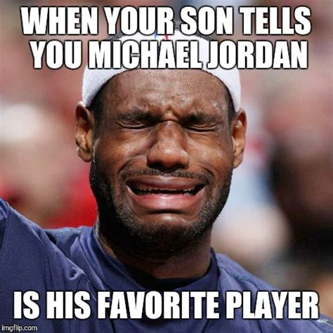 Lebron Jordan Meme - lebron james crying imgflip
