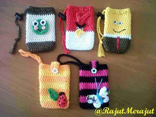 Renda Rajut Vintage 06 Rajutmerajut Crochet Cellphone Pouch
