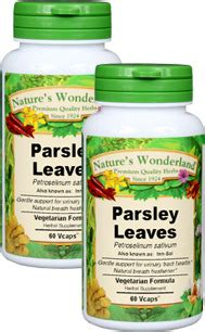 Parsley Detox Side Effects by Parsley Leaf Capsules 450 Mg 60 Vcaps Each
