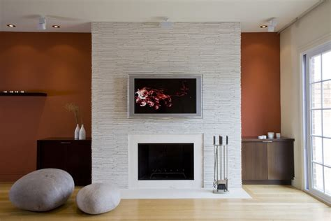 wall mounted fireplace ideas living room contemporary with accent wall blonde wood