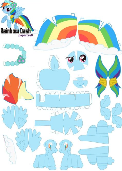Papercraft My Pony - papercraft rainbow dash royal wedding by oskarek11