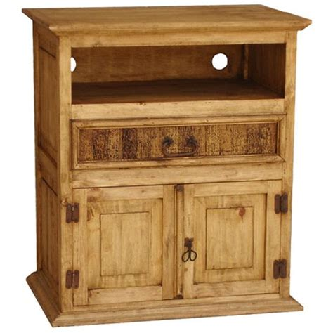 rustic pine collection tv stand w drawer com190
