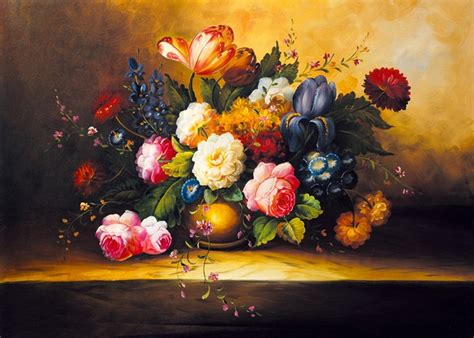 Classic Flower canvas painting world classic flower picture