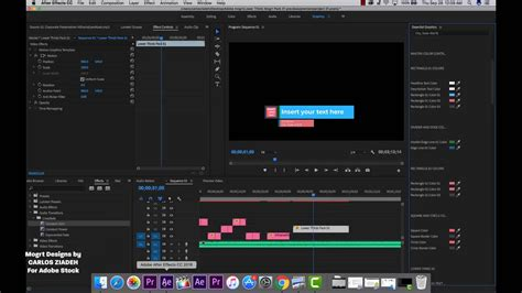 Motion Graphics Templates For Premiere Pro Adobe Stock Mogrt On Vimeo Adobe Premiere Motion Graphics Template