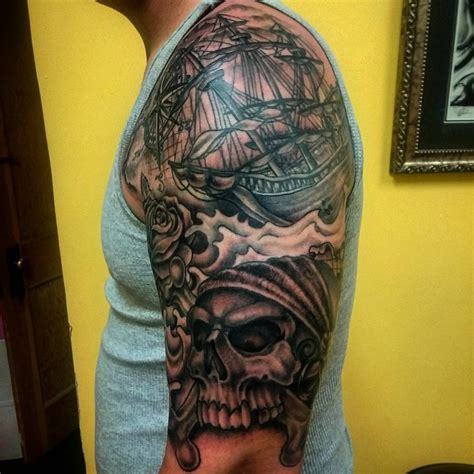 95 best pirate ship tattoo designs amp meanings 2018