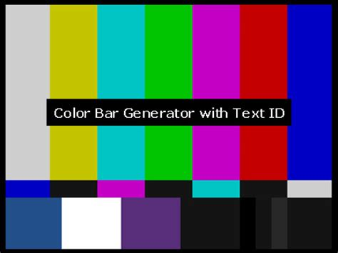 bl cbg520 01 color bar generator board with text
