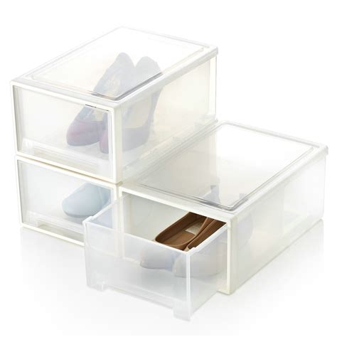shoe storage boxes the hsbd household thickening drawer transparent plastic