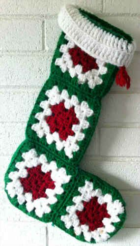 simple crochet pattern for christmas stocking easy granny square christmas stocking free crochet pattern