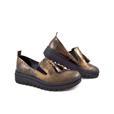fly loafers fly hect chunky tassel loafer in bronze rubyshoesday