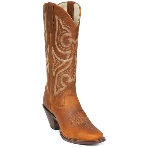 western womens boots s 13 quot durango 174 jealousy western boots cognac