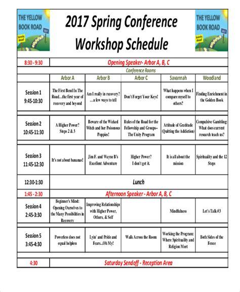 35 Schedule Templates In Pdf Free Premium Templates Workshop Schedule Template